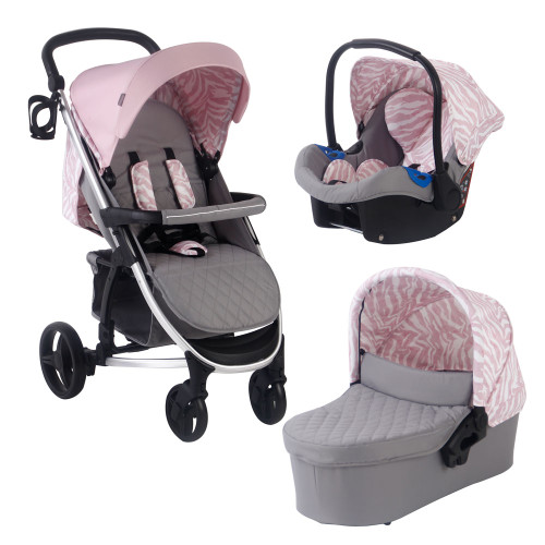My Babiie MB200 Travel System - Dani Dyer Pink & Grey Marble