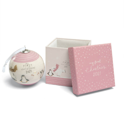 Mamas & Papas My First Christmas 2021 Bauble - Pink