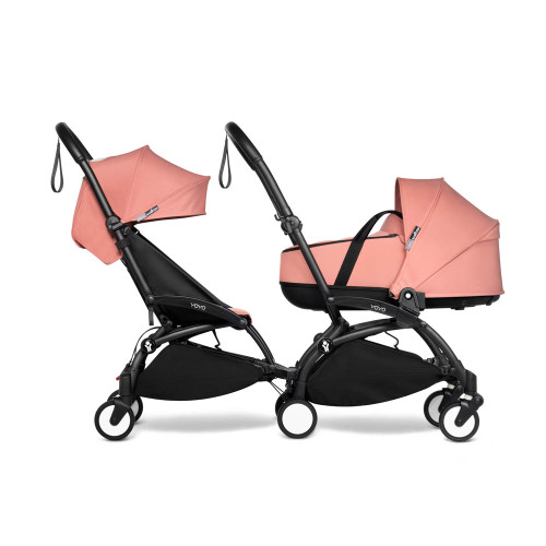 BABYZEN YOYO2 Complete Double Pushchair for Siblings on Black Frame