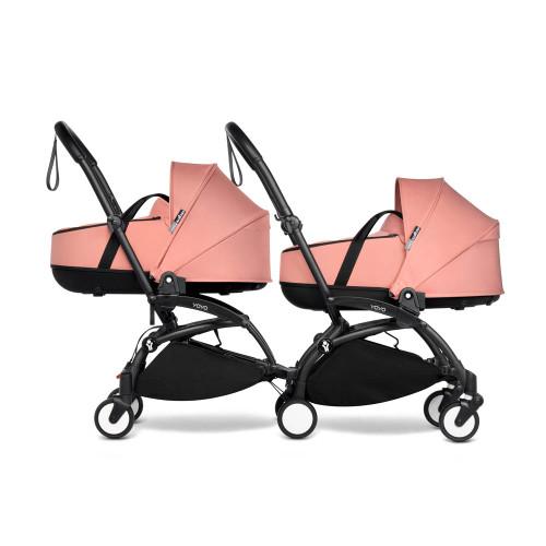 BABYZEN YOYO2 Complete Pushchair from Birth for Twins on Black Frame