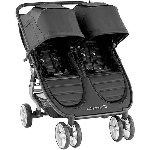 Baby Jogger City Mini 2 Double + 2 Carrycots - Jet