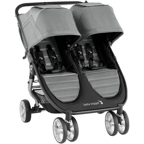 Baby Jogger City Mini 2 Double + 2 Carrycots - Slate