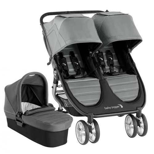 Baby Jogger City Mini 2 Double + Carrycot - Slate