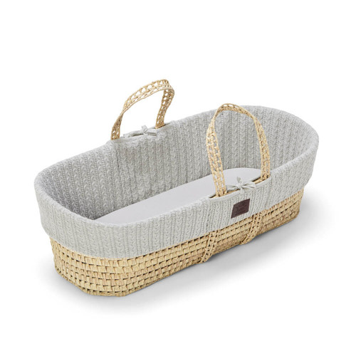 Little Green Sheep Knitted Moses Basket Bundle - Choose Your Colour