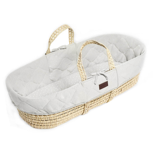 Little Green Sheep Quilted Moses Basket Bundle - Choose Your Colour