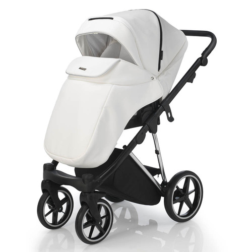 Mee-Go New Milano Special Edition Travel System - White Leatherette