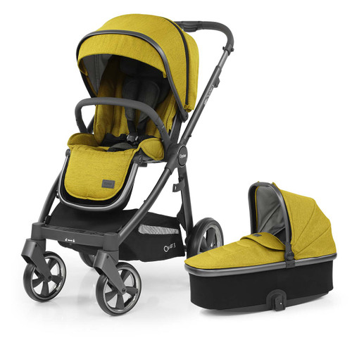 Babystyle Oyster 3 Pushchair + Carrycot - City Grey Chassis/Mustard