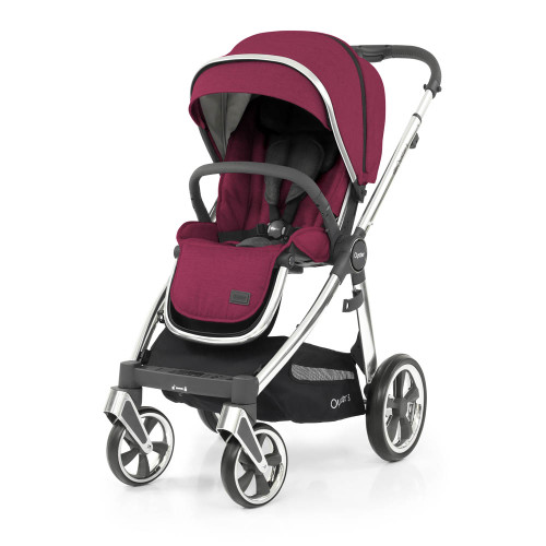 Babystyle Oyster 3 Pushchair + Carrycot - Mirror Chassis/Cherry