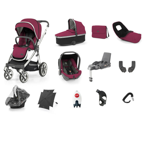 Babystyle Oyster 3 Ultimate 12-Piece Bundle - Mirror Chassis/Cherry