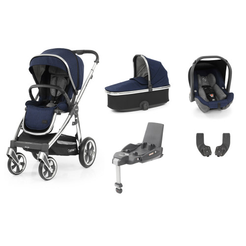 Babystyle Oyster 3 Essential 5-Piece Bundle - Mirror Chassis/Rich Navy