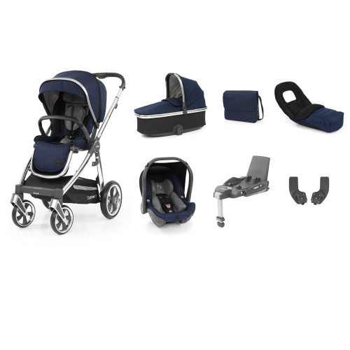 Babystyle Oyster 3 Luxury 7-Piece Bundle - Mirror Chassis/Rich Navy