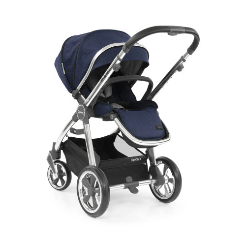 Babystyle Oyster 3 Pushchair - Mirror Chassis/Rich Navy