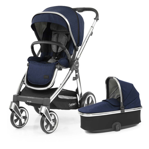 Babystyle Oyster 3 Pushchair + Carrycot - Mirror Chassis/Rich Navy