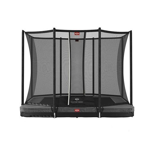 BERG Ultim Favorit InGround 280 (9ft) Trampoline + Safety Net Comfort - Grey