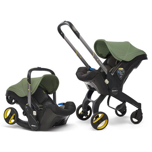 Doona+ Infant Car Seat Stroller + ISOFIX Base - Desert Green