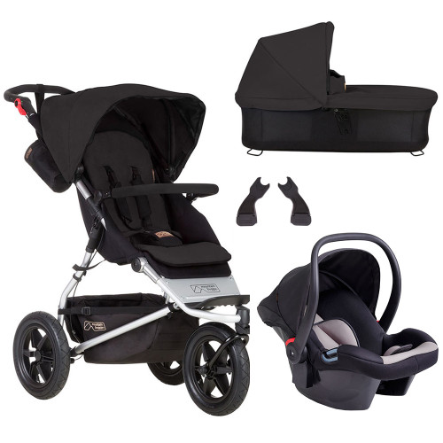 Mountain Buggy Urban Jungle Travel System & Carrycot Plus - Black