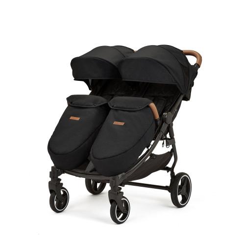 Ickle Bubba Venus Max Double Stroller - Black
