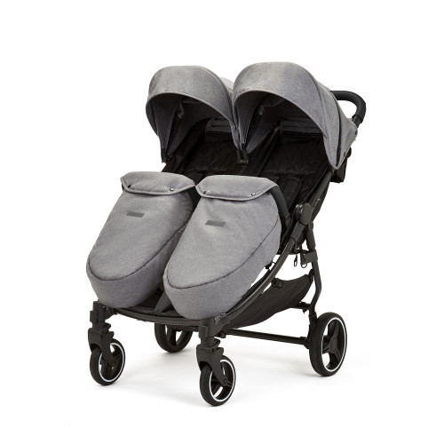 Ickle Bubba Venus Max Double Stroller - Space Grey