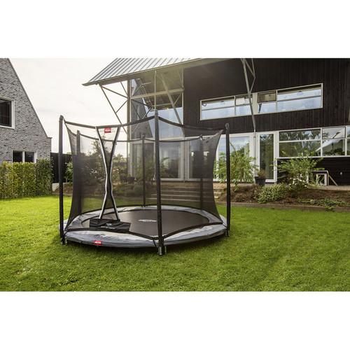 BERG Round Favorit InGround 200 (6.5ft) Trampoline + Safety Net Comfort - Grey