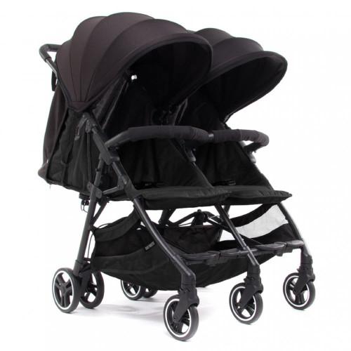 Baby Monsters Kuki Twin Stroller - Black/Black