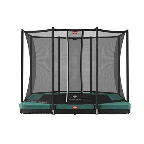 BERG Ultim Favorit InGround 280 Trampoline + Safety Net Comfort - Green