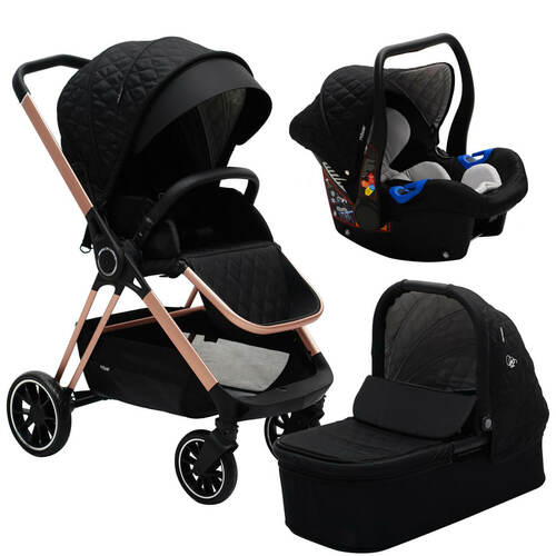 My Babiie MB250 Travel System - Billie Faiers/Black Quilted