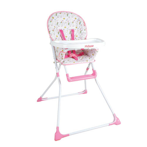 My Babiie Compact Highchair - Unicorn