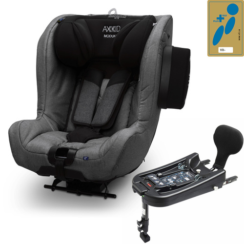 Axkid Modukid i-Size Toddler Car Seat + Isofix Base - Granite Melange