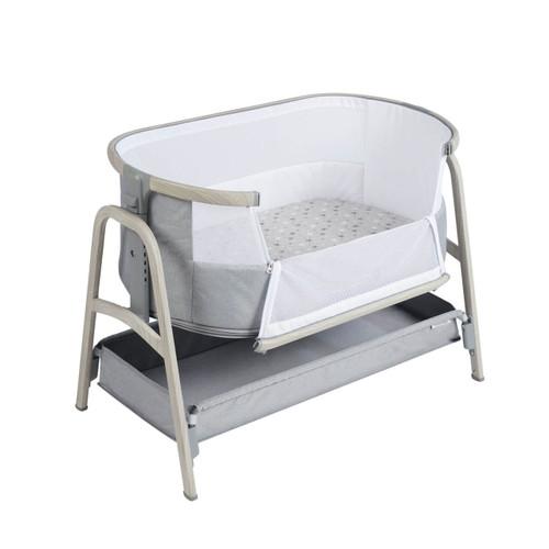 Ickle Bubba Bubba&Me Bedside Crib - Ash Grey