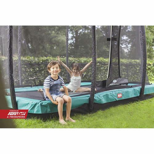 BERG Ultim Champion InGround 330 (11ft) Trampoline + Safety Net Deluxe - Green
