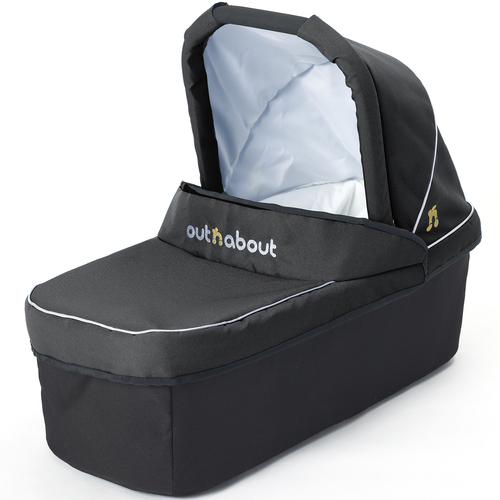 Out 'n' About Nipper Double Carrycot - Raven Black