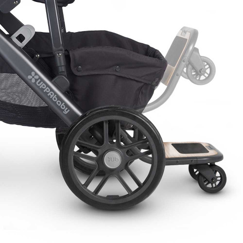 Uppababy Vista Piggy Back Ride Along Board in use
