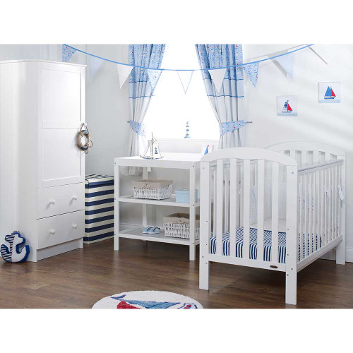 Obaby Lily 3 Piece Room Set - White (lifestyle)