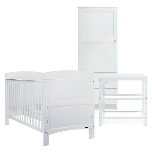 Obaby Grace 3 Piece Furniture Set - White