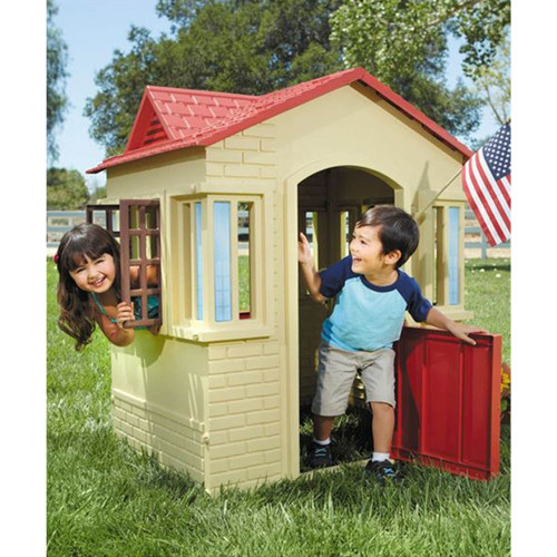 Little Tikes Cape Cottage - Tan/Red
