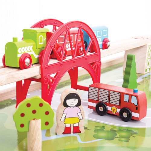 Bigjigs Services Train Set & Table