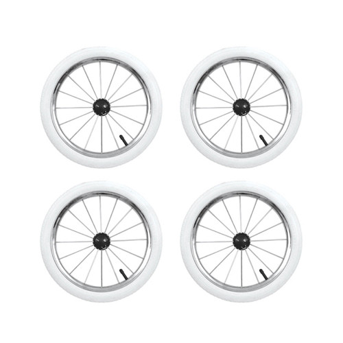 Babystyle Prestige 14 inch Air Wheels - White x 4