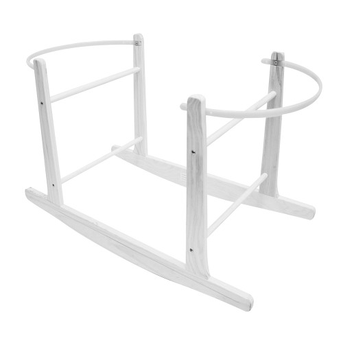 Cuddles Collection Rocking Moses Basket Stand - White