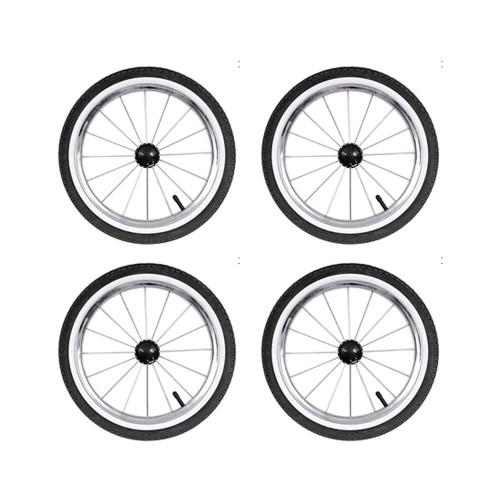 Babystyle Prestige 14 inch Air Wheels - Black x 4