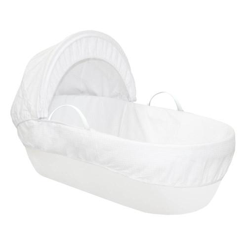 Shnuggle Moses Basket Waffle - White
