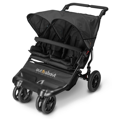 Out n About Little Nipper Double - Jet Black (3 quarter)