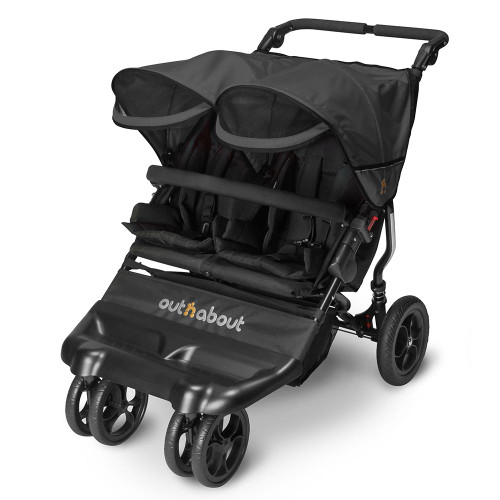 Out n About Little Nipper Double - Jet Black (3 quarter-visor)