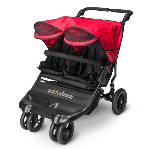 Out n About Little Nipper Double - Poppy Red (3-quarter-visor)