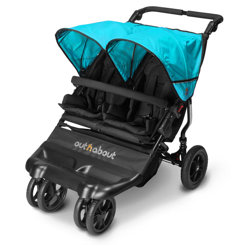 Out n About Little Nipper Double - Marine Blue (3 quarter)