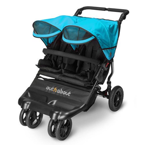 Out n About Little Nipper Double - Marine Blue (3-quarter-visor)