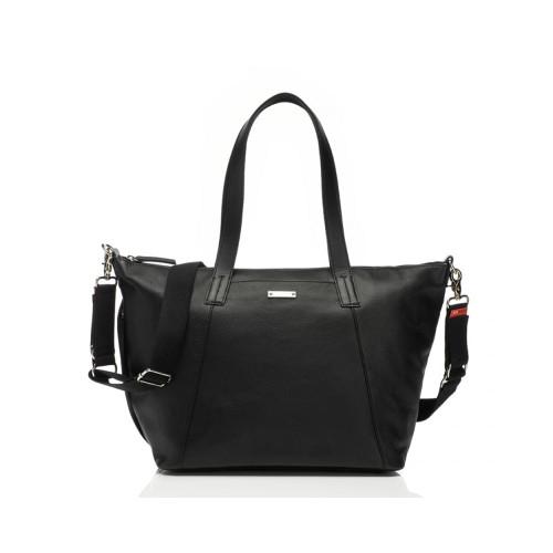 Storksak Noa Leather Changing Bag - Black