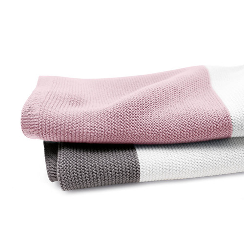 Bugaboo Light Cotton Blanket - Soft Pink Multi