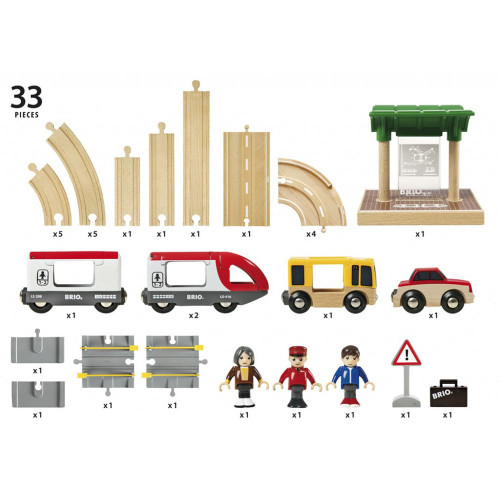 Brio Rail & Road Travel Set - pieces