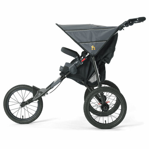 Out n About Nipper Sport Stroller V4 - Steel Grey (side)