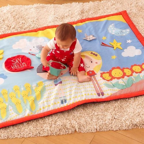 Baby Sensory Say Hello Friends Double-Sided Activity Mat